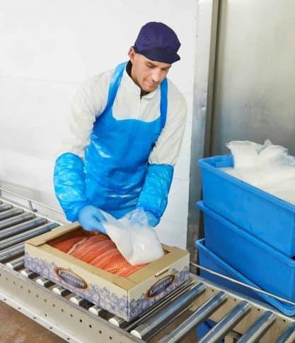 Kalaneuvos EcoFishBox jääpussien pakkaus