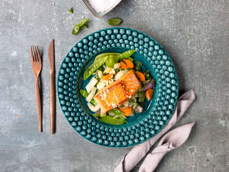 Lohi wokkivihanneksilla - Resepti - Pääruoka | Kalaneuvos