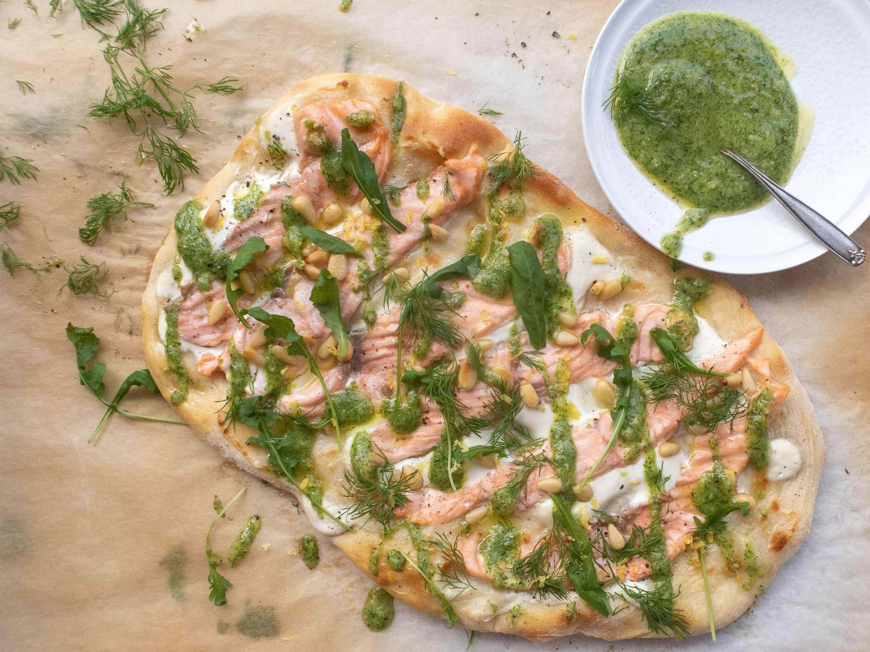 Lohipizza tillipestolla - Kalapizza - Resepti - Pääruoka | Kalaneuvos